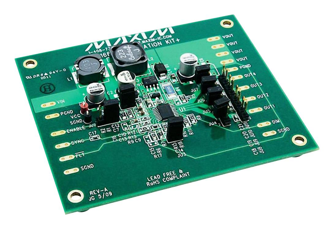 High Power Led Driver Circuit Using Lnk403eg Maxim Integrated Products Max16814evkit Max16814