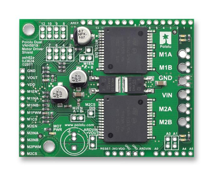 Dual MC33926 Motor Driver Carrier Robokits Solutions